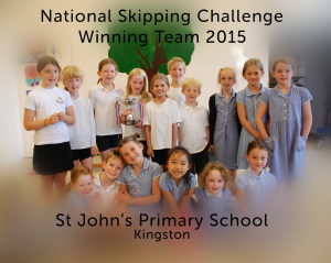 National Skipping Challenge Winners St John's
