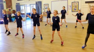 Synchronised skipping routine by St John's Skipping Team
