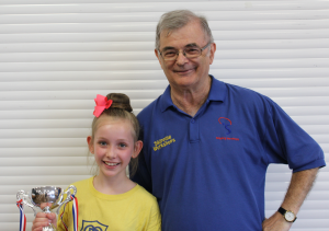 Head Coach Harold Galley with Winner, Sophie Froggatt
